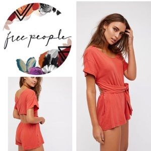 Free People Easy Street Wrapped One Piece Romper
